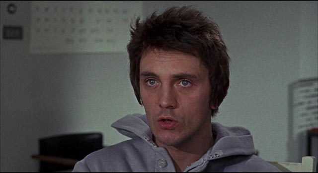Newly born at age 30, John (Terence Stamp) struggles to learn in Alan Cooke's The Mind of Mr. Soames (1970)