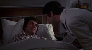 John (Terence Stamp) responds well to warmth and affection in Alan Cooke's The Mind of Mr. Soames (1970)
