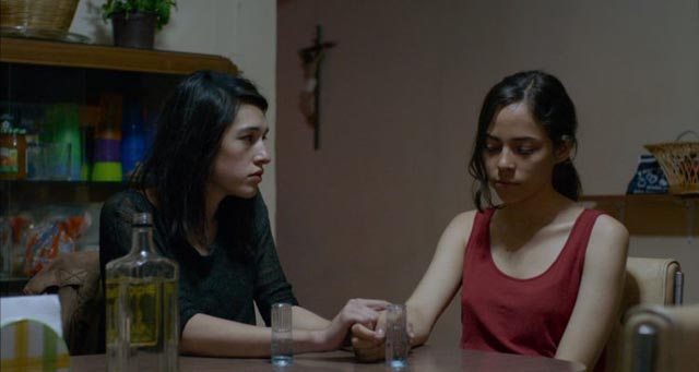 Veronica (Simone Bucio) wants to share her experience with Alejandra (Ruth Ramos) in Amat Escalante's The Untamed (2016)