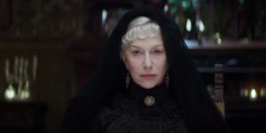 Helen Mirren as Sarah Winchester, a widow haunted by the victims of her husband's capitalist success in the Spierig Brothers' Winchester (2018)