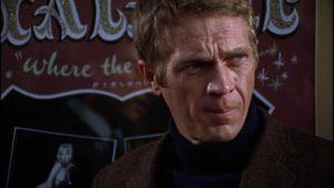 Steve McQueen as a cool San Francisco cop in Peter Yates Bullitt (1968)