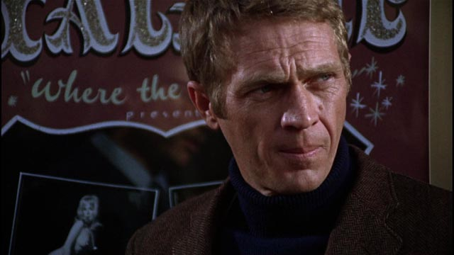 Steve McQueen as a cool San Francisco cop in Peter Yates Bullitt (1968)