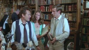 Miller, as a bookstore owner, offers helpful advice about werewolves in Joe Dante's The Howling (1981)