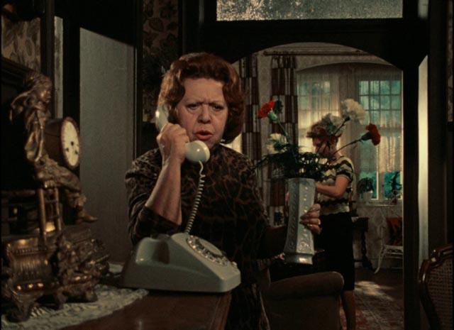 Marion (Hanna Schygulla)'s mother (Brigitte Mira) disapproves of Jochen (Gottfried John) in Rainer Werner Fassbinder's Eight Hours Don't Make a Day (1972-73)