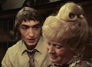 Jochen (Gottfried John) idolizes his grandmother (Luise Ullrich) in Rainer Werner Fassbinder's Eight Hours Don't Make a Day (1972-73)