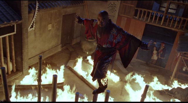 One of Yuen Woo-ping's spectacularly inventive fight scenes in Iron Monkey (1993)