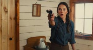 Caren Pistorius as Rose Ross, the object of a death-filled quest in John Maclean's Slow West (2015)
