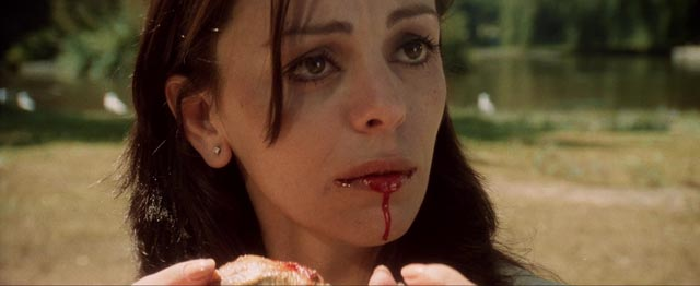 Kate Davis (Chantal Contouri) doesn't share her ancestor's taste for blood in Rod Hardy's Thirst (1979)