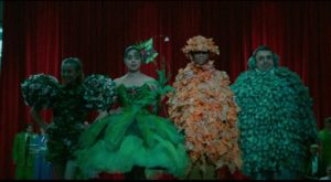 The townsfolk put on a celebratory fashion show at the local mall in David Byrne's True Stories (1986)