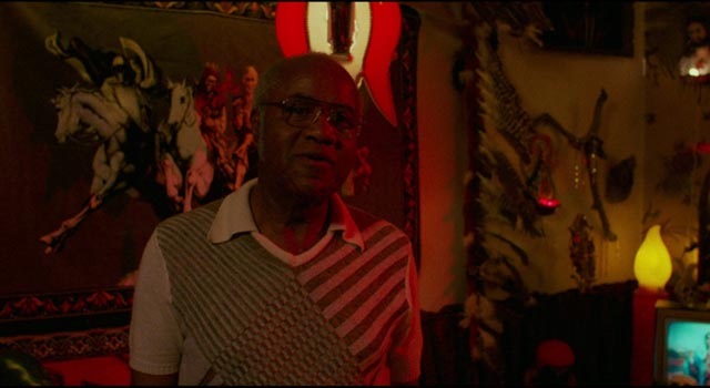 "Roebuck ""Pops"" Staples as Mr. Tucker, a benign practitioner of Voodoo in David Byrne's True Stories (1986)"