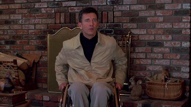 Preston (Matt McCoy) sees the noisy party of women arrive next door in Ryan Schifrin's Abominable (2005)