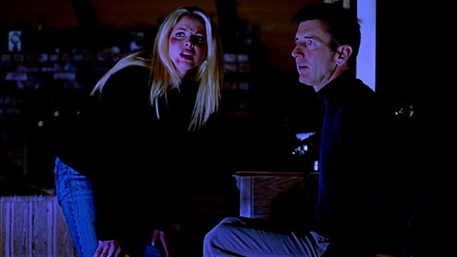 Preston Matt McCoy) and Final Girl Amanda (Haley Joel) are forced to fight for their lives in Ryan Schifrin's Abominable (2005)