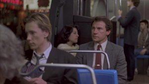 Lt. Fred O'Connor (Harvey Keitel) follows the stranger (John Lydon) who has been following him in Roberto Faenza's Copkiller (aka Corrupt, 1983)