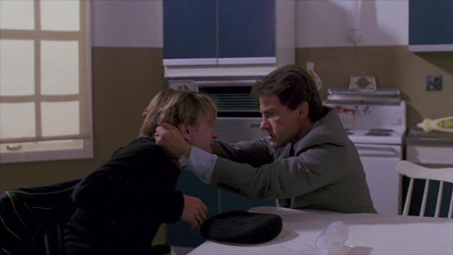 Self-confessed killer Leo Smith (John Lydon) invades the secret sanctum of Lt. Frank O'Connor (Harvey Keitel) in Roberto Faenza's Copkiller (aka Corrupt, 1983)