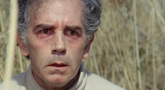 Professor Eduardo Ranieri (Riccardo Cucciolla) realizes he was seen committing murder in Vittorio Salerno's No, the Case is Happily Resolved (1973)