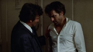 Mikey (Peter Falk) tries to calm Nicky (John Cassavetes)'s paranoid panic in Elaine May's 1976 masterpiece