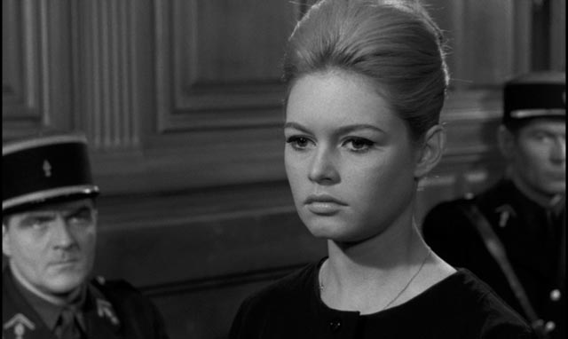 Dominique Marceau (Brigitte Bardot) faces an unsympathetic court in Henri-Georges Clouzot's La vérité (1960)