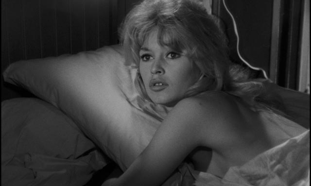 Dominique (Brigitte Bardot) sees her sister's friend Gilbert for the first time in Henri-Georges Clouzot's La verite (1960)