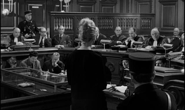 Dominique at the mercy of judgemental men in Henri-Georges Clouzot's La verite (1960)