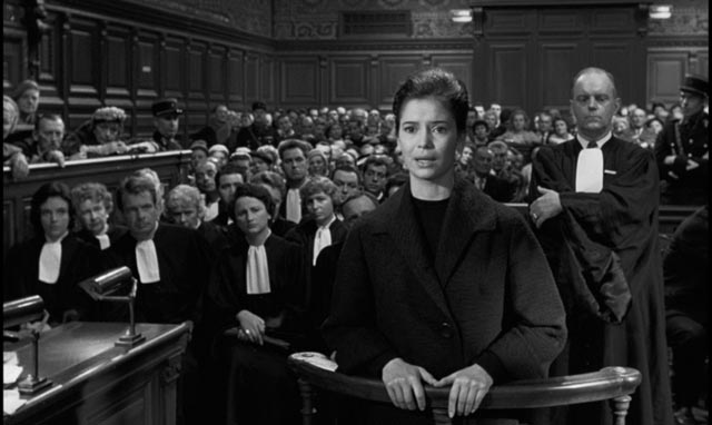 Hostile witness: Dominique (Brigitte Bardot)'s sister Annie (Marie-José Nat) testifies against her in Henri-Georges Clouzot's La verite (1960)