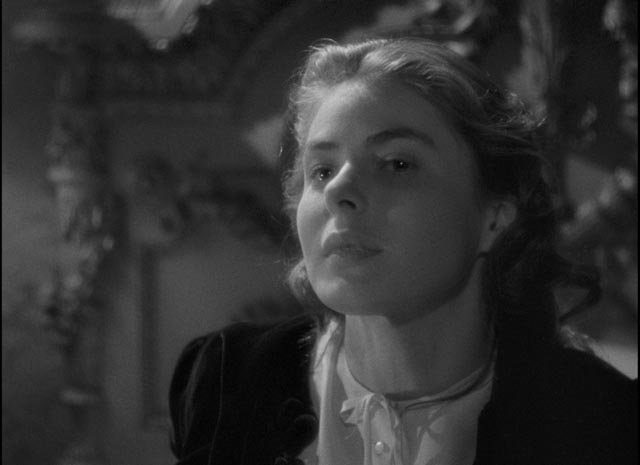 Alicia Huberman (Ingrid Bergman) is willing to abase and sacrifice herself for love in Alfred Hitchcock's Notorious (1946)