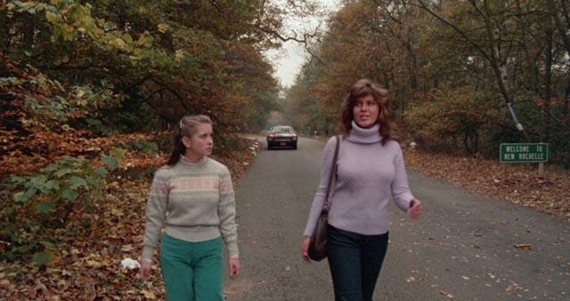 Walking in the road is not a good idea in Michael Winner's Scream for Help (1984)