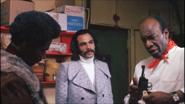 Priest (Ron O'Neal) asks his old mentor (Julius Harris) in Gordon Parks Jr's Super Fly (1972)