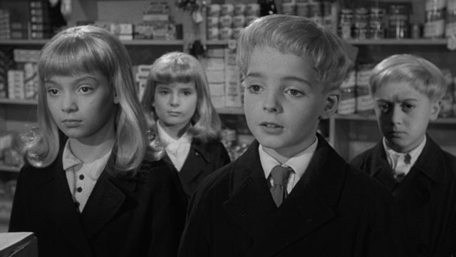 The children view human adults with scientific interest and detachment ... and disdain in Wolf Rilla's Village of the Damned (1960)