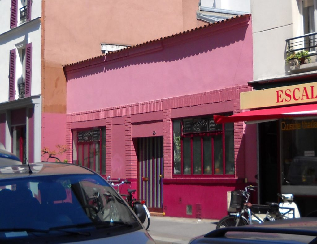 The colourful offices of Agnes Varda's production company, Ciné Tamaris