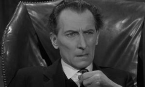 Fordyce (Peter Cushing) is forced by circumstances to gain some degree of self-awareness in Quentin Lawrence's Cash on Demand (1961)