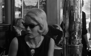 Corinne Marchand, waiting for potentially bad news in Agnes Varda's Cleo from 5 to 7 (1962)