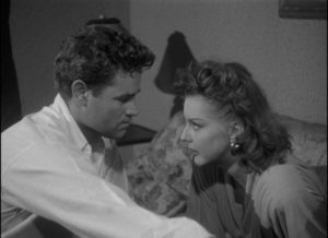 Bound by a malevolent Fate: Al (Tom Neal) and Vera (Ann Savage) trapped in a toxic relationship in Edgard G. Ulmer's Detour (1946)