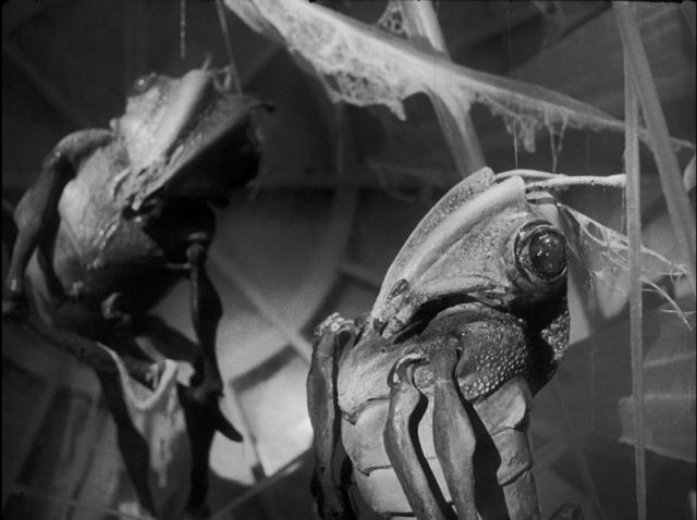 The desiccated remains of our Martian ancestors are found inside a ship buried under London in Nigel IKneale's Quatermass and the Pit (1959)