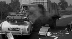 Val Guest's The Full Treatment (1960) opens with the dramatic aftermath of a car crash