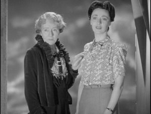 Lady Loxfield (Mabel Terry-Lewis) and her daughter Philippa (Frances Rowe) want different things from life in Basil Dearden's They Came to a City (1944)