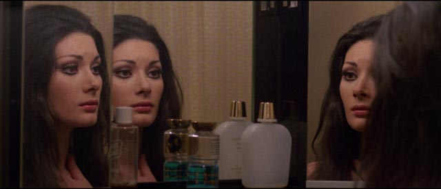 Jane Harrison (Edwige Fenech) loses her grip on reality in Sergio Martino's All the Colors of the Dark (1972)