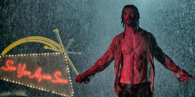 Chris Hemsworth as Manson-like cult leader Billy Lee in Drew Goddard's Bad Times at the El Royale (2018)