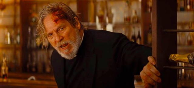 Jeff Bridges as the fake Father Daniel Flynn in Drew Goddard's Bad Times at the El Royale (2018)