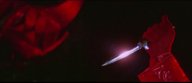 A knife flashes in the darkness is Umberto Lenzi's Eyeball (1975)