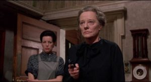 Mrs. Trefoile imprisons Patricia with the help of her housekeeper Anna (Yootha Joyce) in Silvio Narizzano's Fanatic (1965)