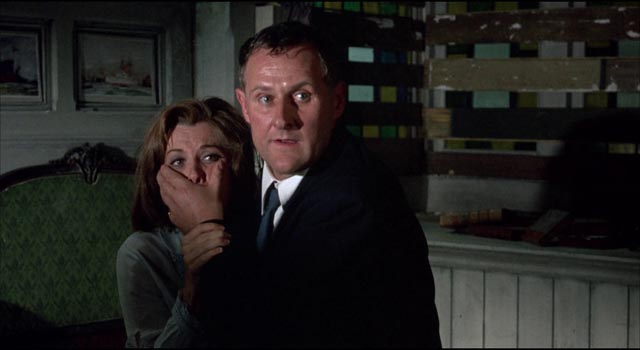 Harry needs to keep his attempted assault of Patricia quiet in Silvio Narizzano's Fanatic (1965)