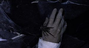 A nod to Tod Browning's Dracula as vampire Caleb Croft (MIchael Pataki) awakens in John Hayes' Grave of the Vampire (1972)