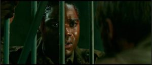 Private Boyce (Jovan Adepo) has to prove his courage in the face of Nazi monsters in Julius Avery's Overlord (2018)
