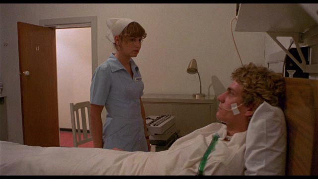 Idealistic nurse Kathy (Susan Penhaligon) develops an unhealthy attachment to her patient in Richard Franklin's Patrick (1978)
