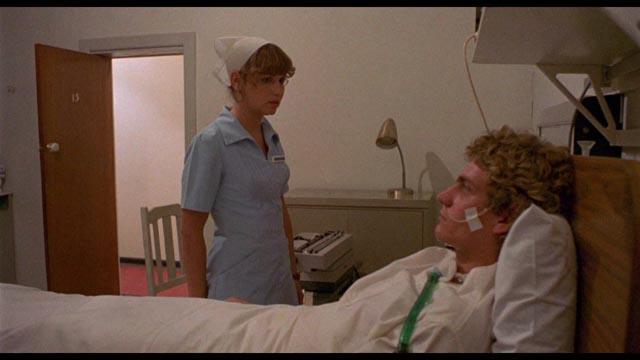 Idealistic nurse Kathy (Susan Penhaligon) develops an unhealthy attachment to her patient in Richard Franklin's Patrick (1978)
