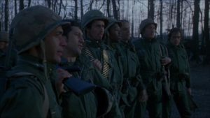 In classic movie platoon style, the unit initially bury their differences in a shared identity in Walter Hill's Southern Comfort (1981)
