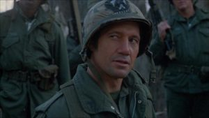 Reece (Fred Ward) has no respect for the locals in Walter Hill's Southern Comfort (1981)