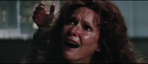Karen Tandy (Susan Strasberg) gives painful birth from a cyst on her back in William Girdler's The Manitou (1978)