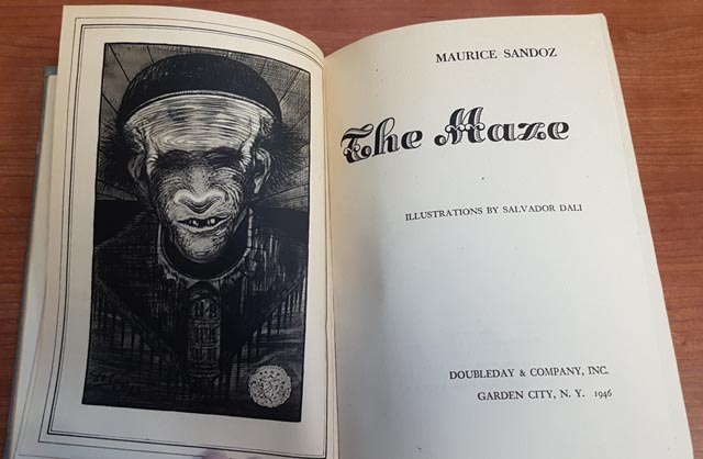 1946 edition of Maurice Sandoz's odd novella The Maze based on simplistic ideas about genetic inheritance