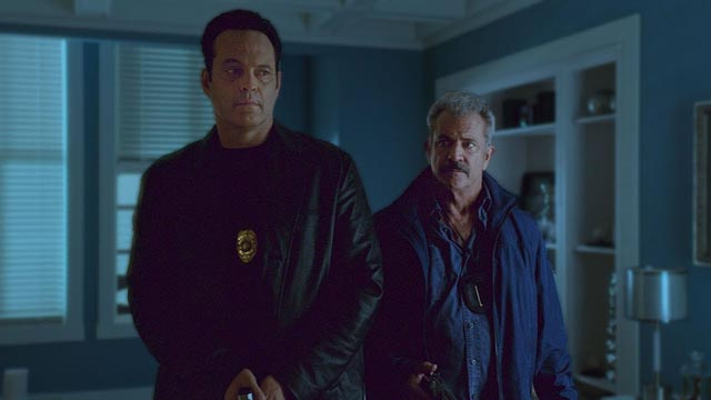 Vince Vaughn and Mel Gibson play a pair of compromised cops who get involved in a violent heist in S. Craig Zahler's Dragged Across Concrete (2018)